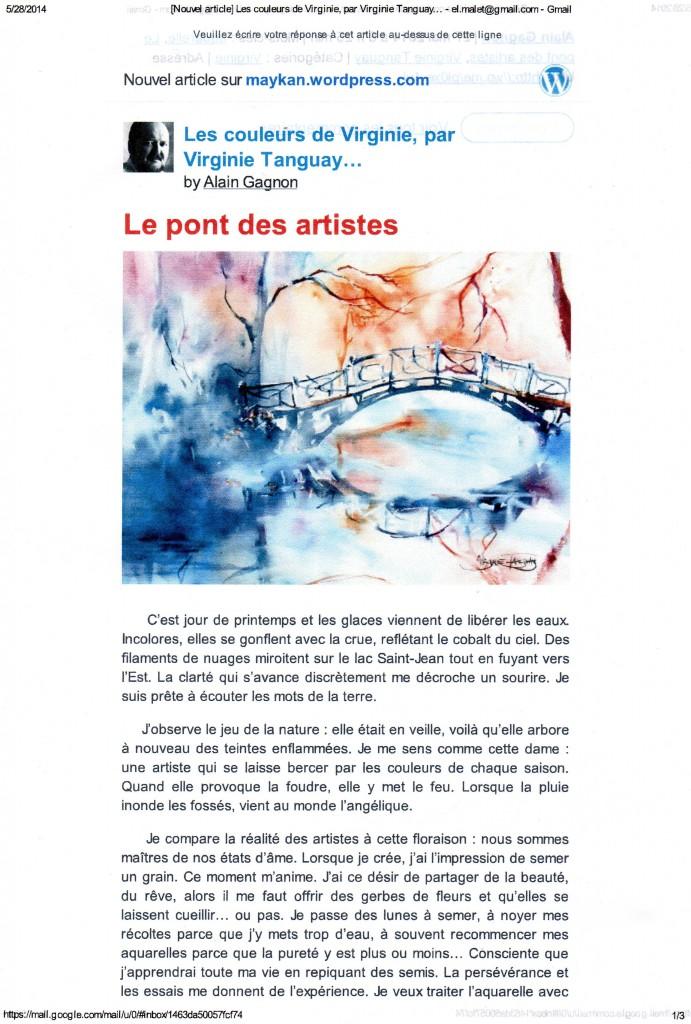 Le pont des artistes