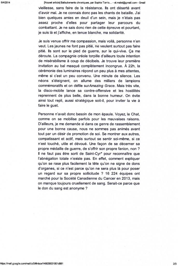 continuation of Désarmée blog.
